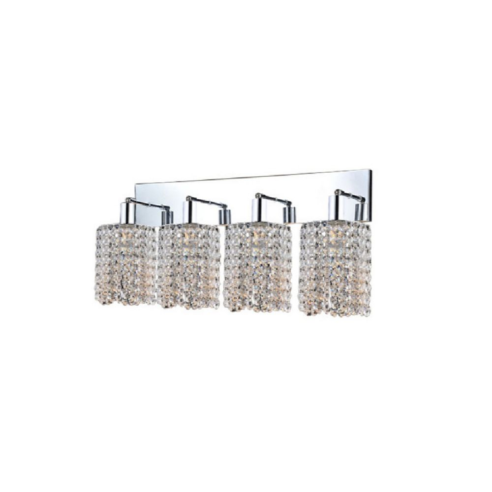 CWI Lighting Glitz 5 inch 4 Light Wall Sconce with Chrome Finish
