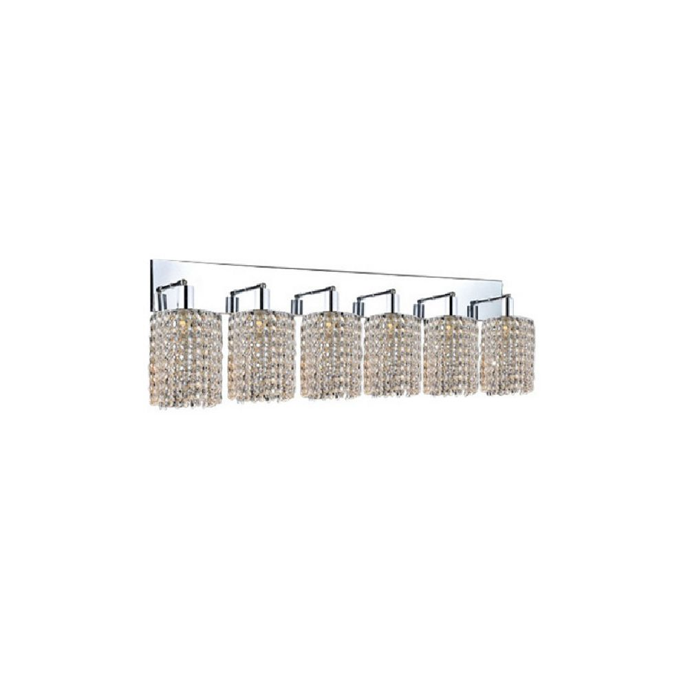 CWI Lighting Glitz 5-inch 6 Light Wall Sconce with Chrome Finish