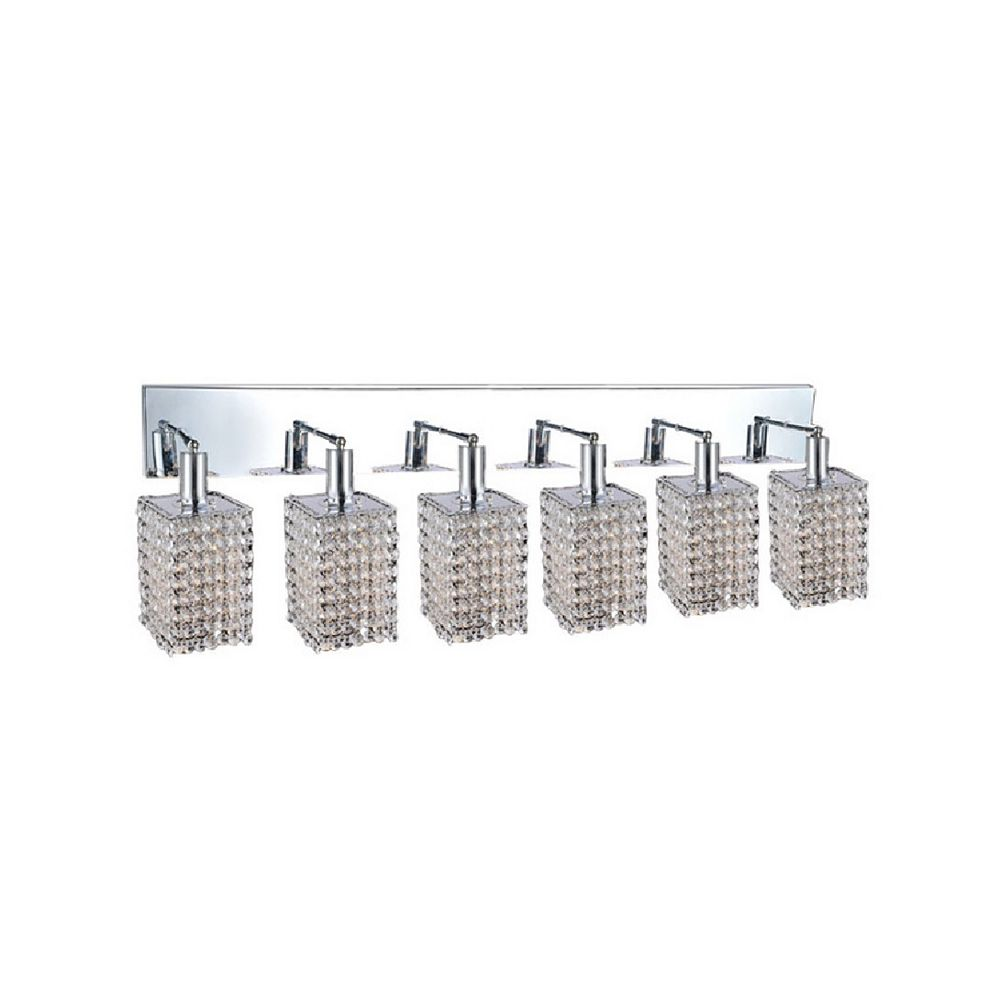 CWI Lighting Glitz 5 inch 6 Light Wall Sconce with Chrome Finish