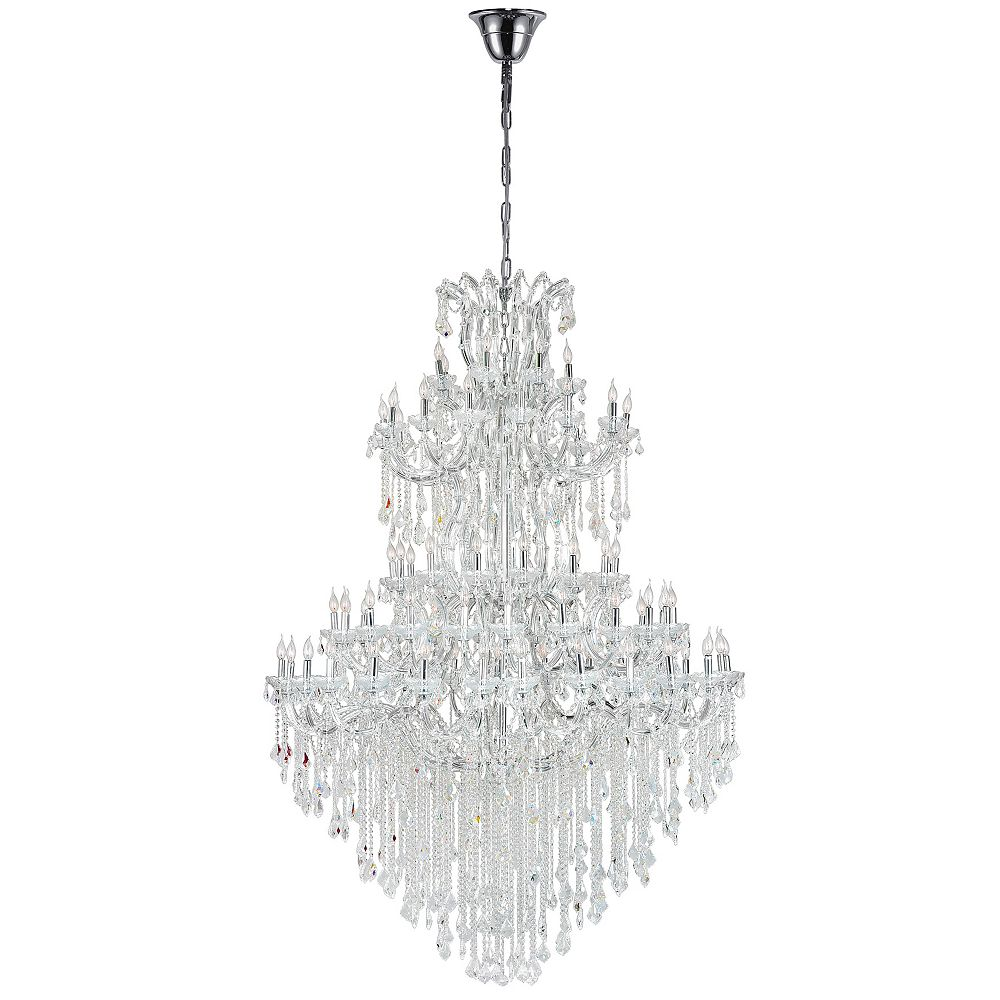 CWI Lighting Maria Theresa 70 inch 84 Light Chandelier with Chrome Finish