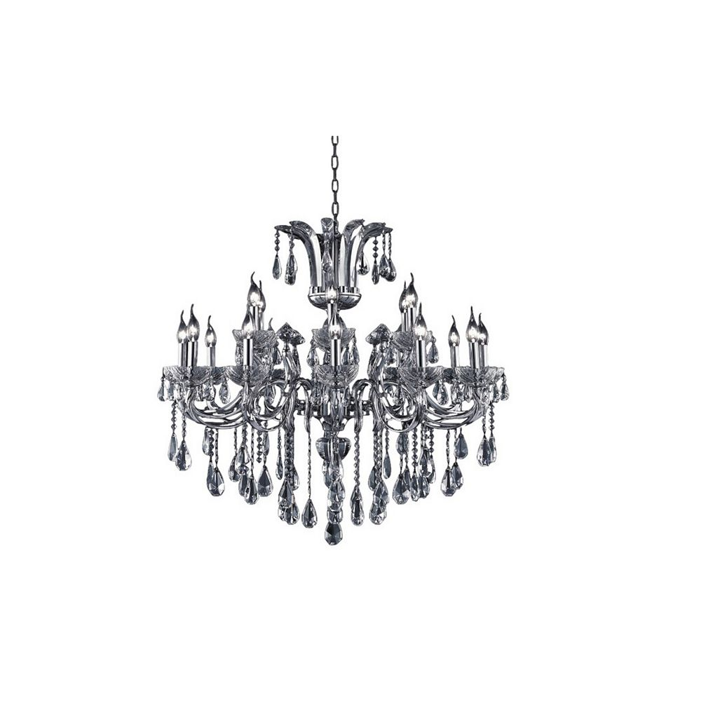 CWI Lighting Glorious 40 inch 18 Light Chandelier with Chrome Finish