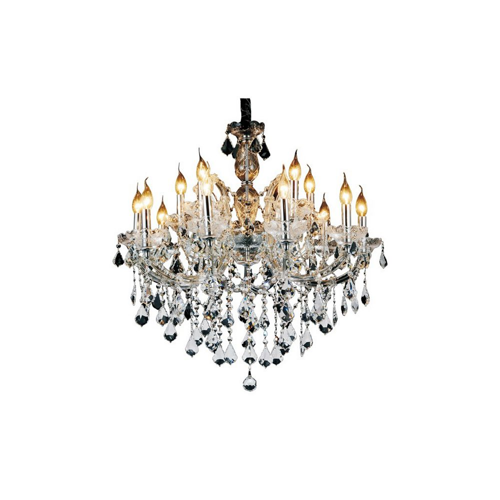 CWI Lighting Riley 32 inch 15 Light Chandelier with Chrome Finish
