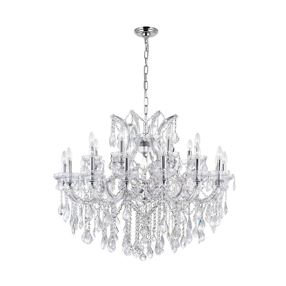 CWI Lighting Maria Theresa 42 inch 25 Light Chandelier with Chrome Finish
