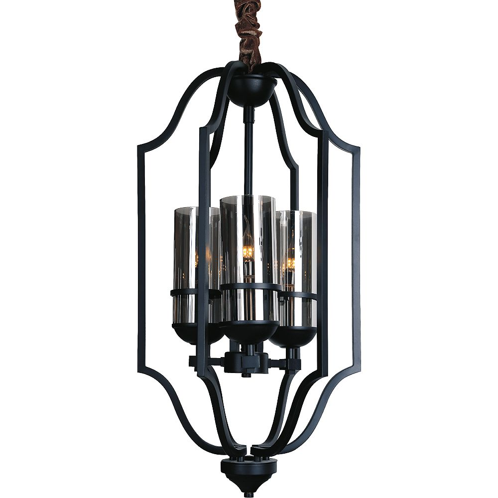 CWI Lighting Vanna 15 inch 3 Light Chandelier with Black Finish