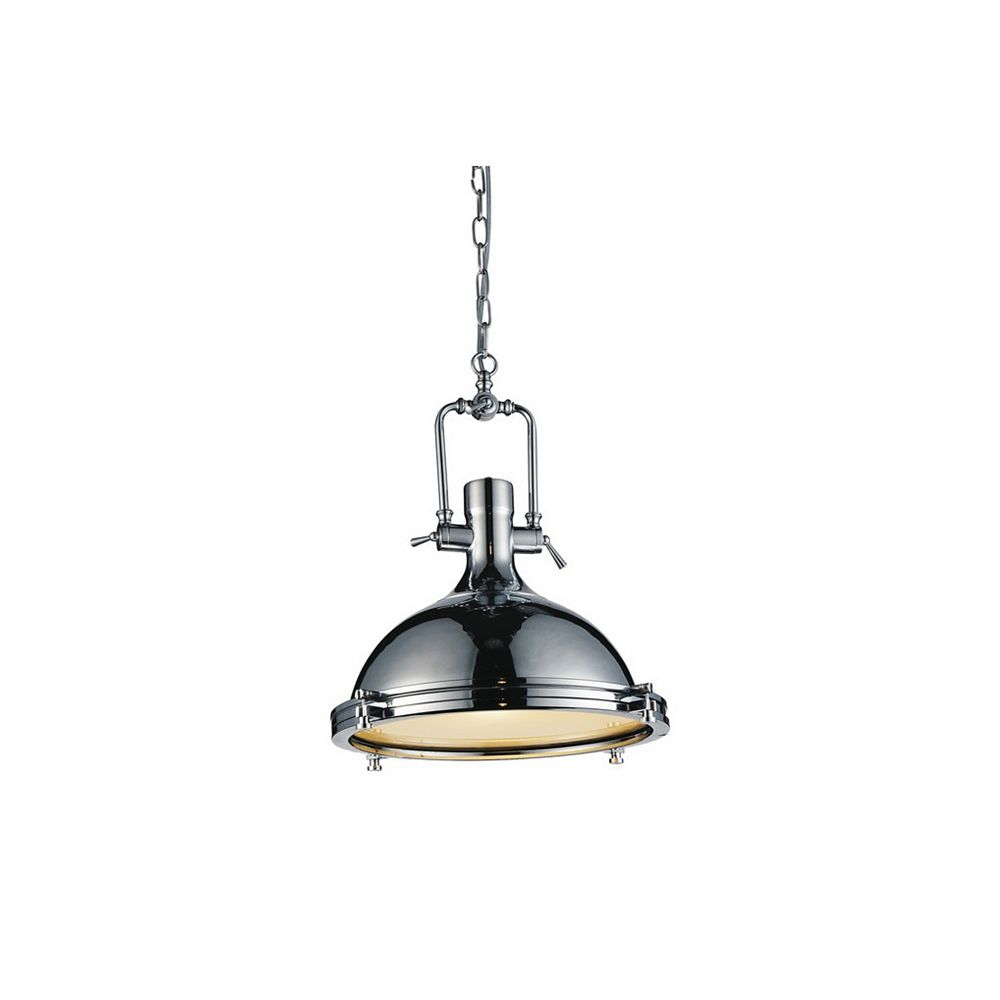 CWI Lighting Show 16 inch 1 Light Chandelier with Chrome Finish