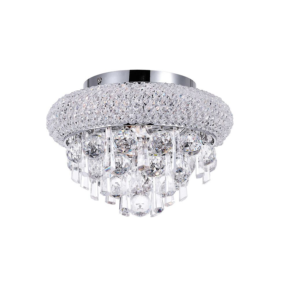 CWI Lighting Kingdom 10 inch 2 Light Flush Mount with Chrome Finish