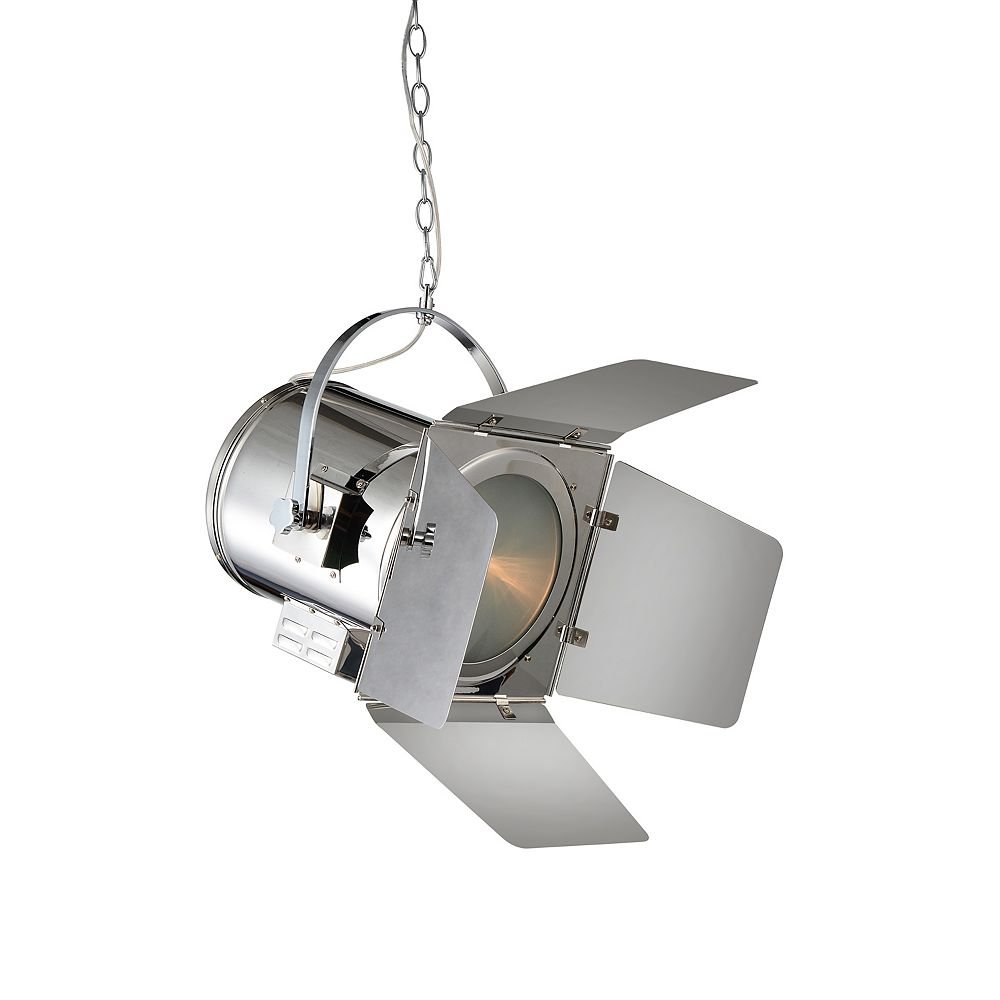 CWI Lighting Stage 11 inch 1 Light Mini Pendant with Chrome Finish