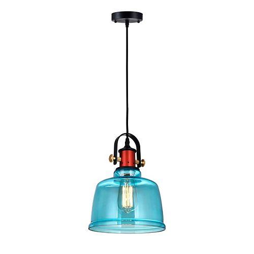 "CWI 9"" Tower Bell 1 Lumière Mini Pendentif avec Fini Bleu"