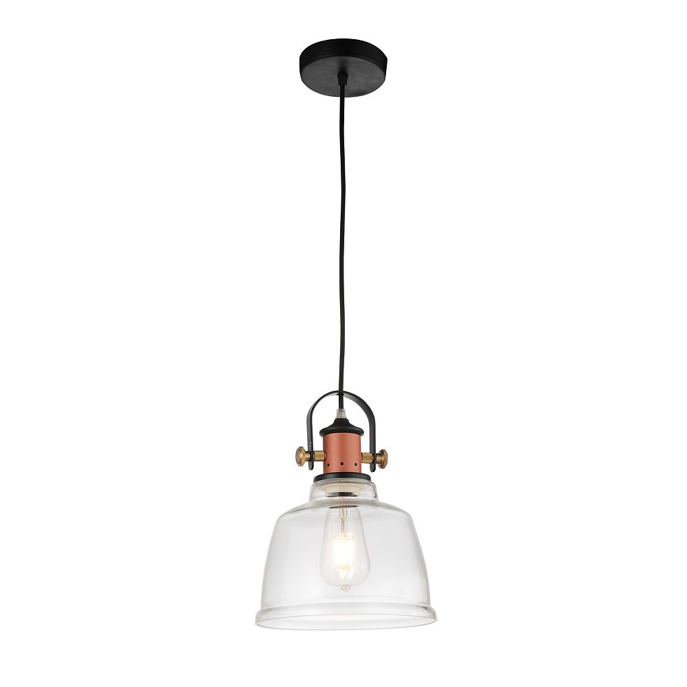 CWI Lighting Tower Bell 9 inch 1 Light Mini Pendant with Clear Finish
