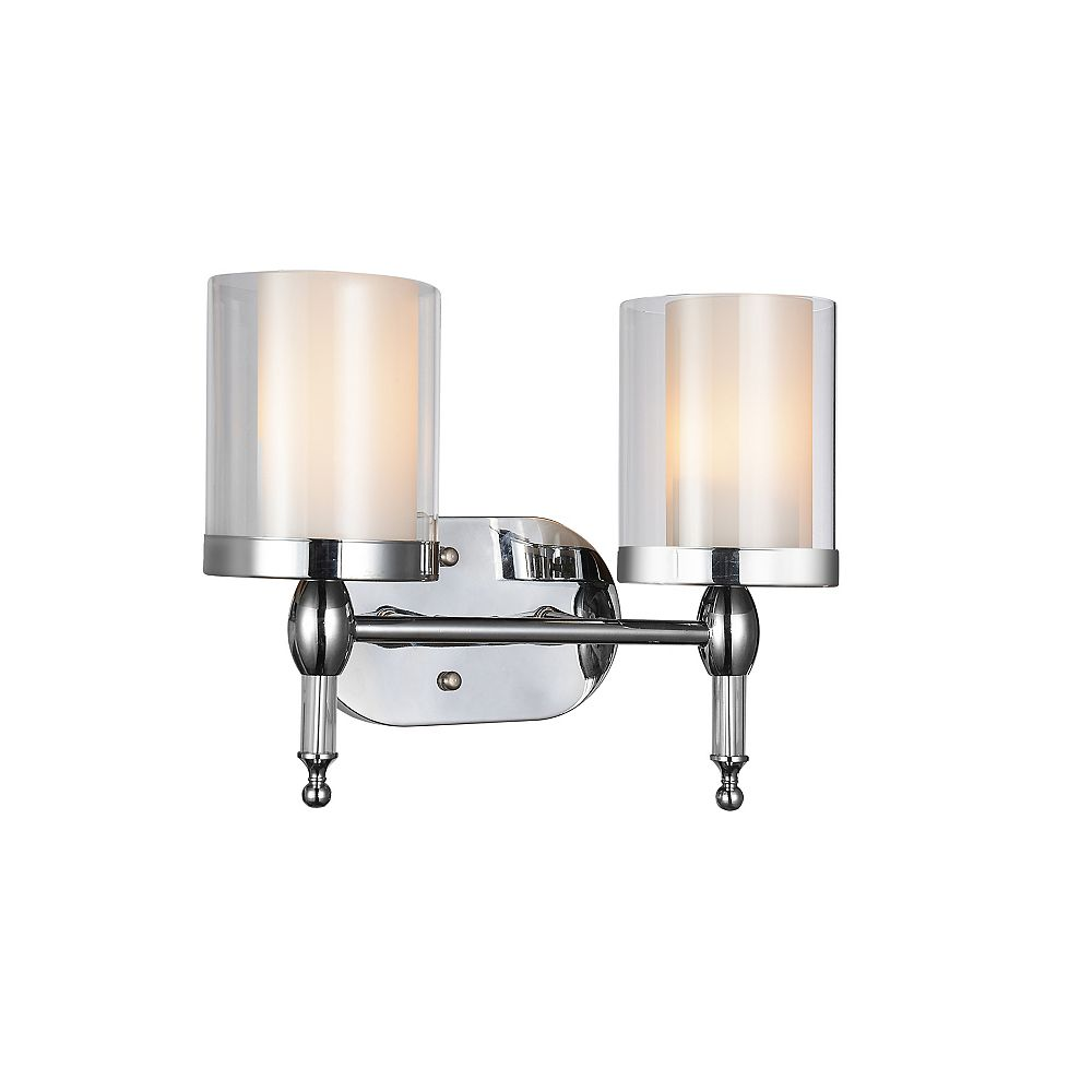 CWI Lighting Maybelle 6 inch 2 Light Wall Sconce with Chrome Finish
