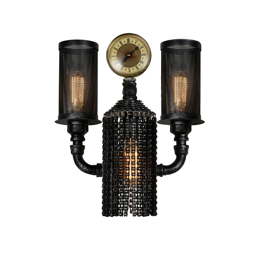 CWI Lighting Union 11 inch 2 Light Wall Sconce with Gray Finish
