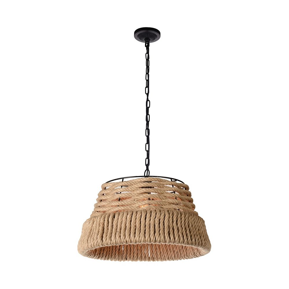 CWI Lighting Padma 15-inch 1-Light Chandelier with Black Finish