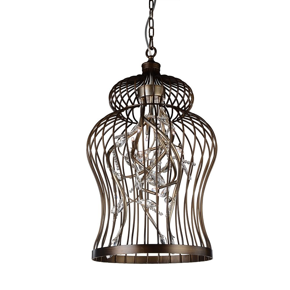 CWI Lighting Molus 16 inch 6 Light Chandelier with Antique Gold Finish