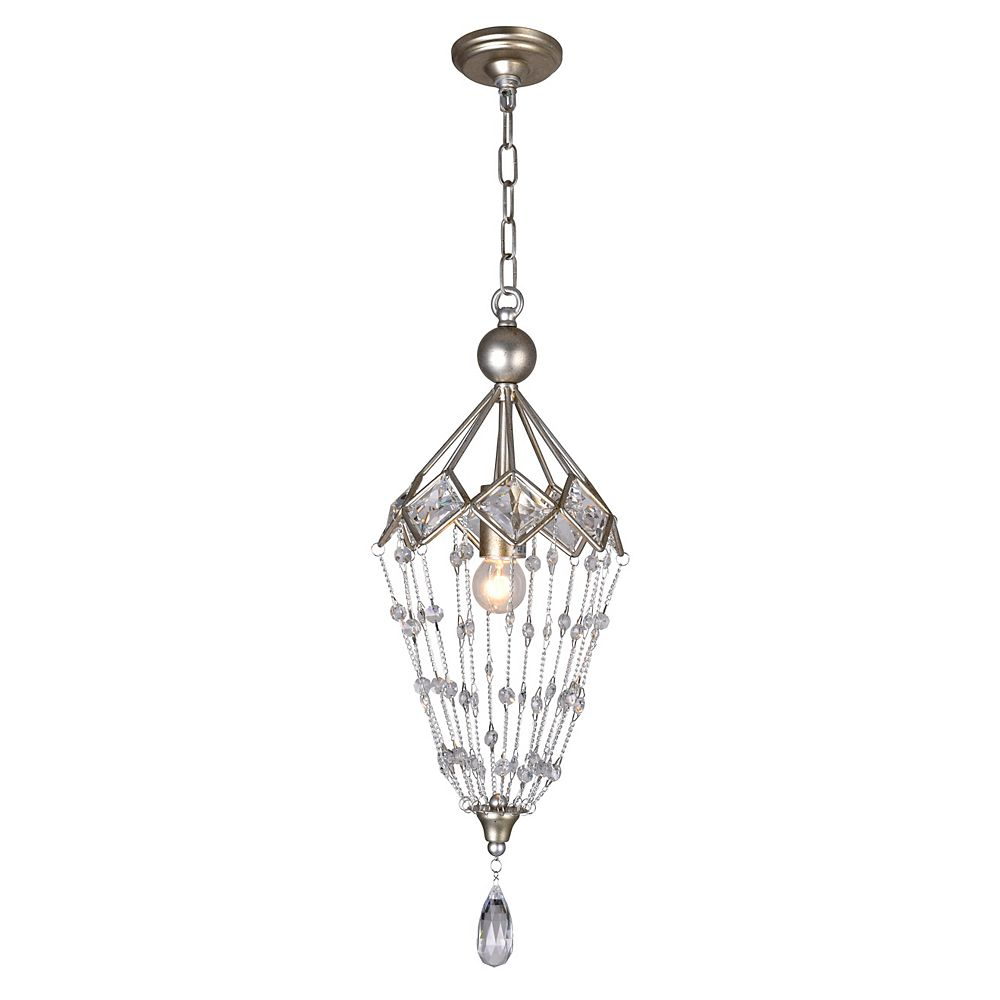 CWI Lighting Pembina 8 inch 1 Light Mini Pendant with Speckled Nickel Finish