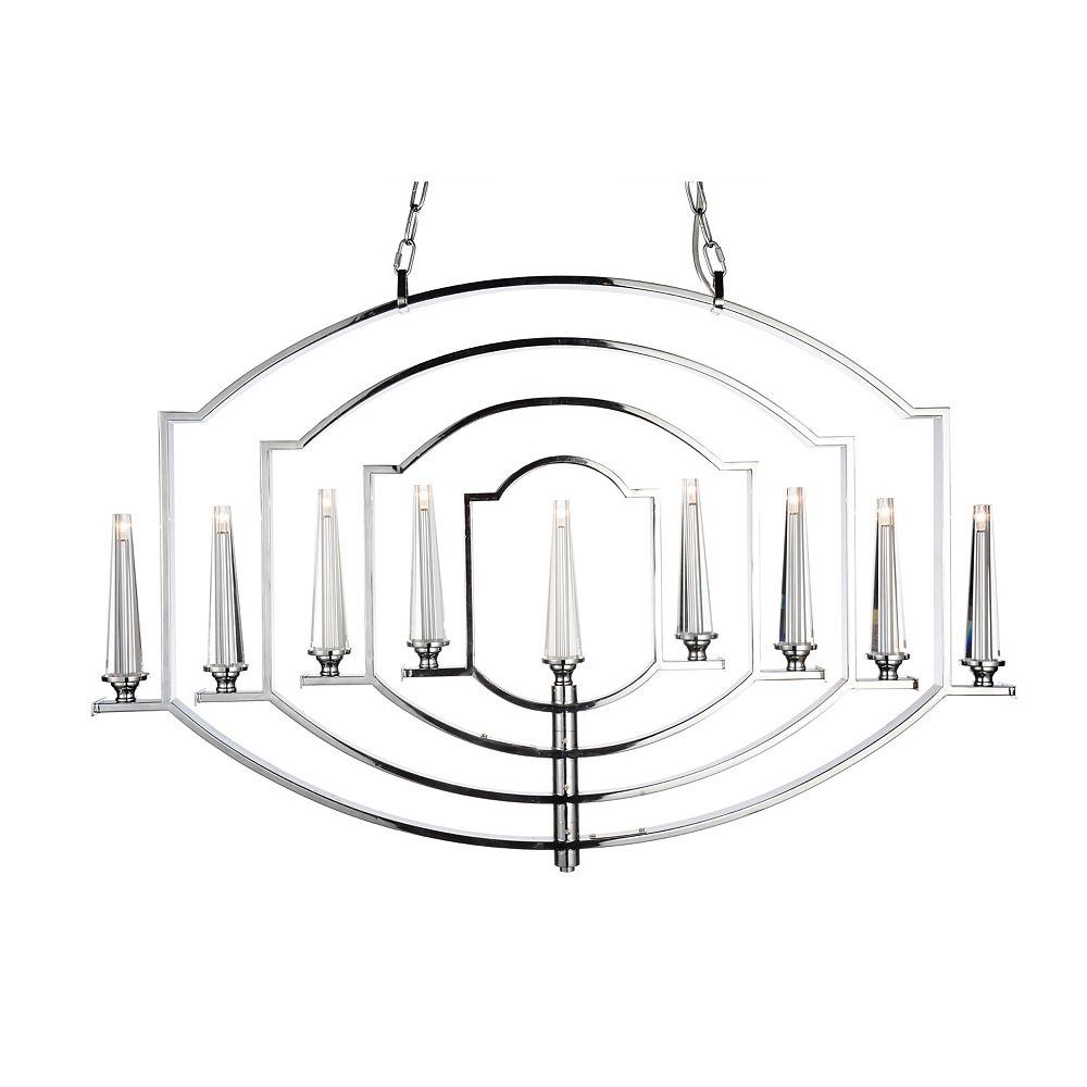 CWI Lighting Calhoun 2 inch 9 Light Chandelier with Chrome Finish