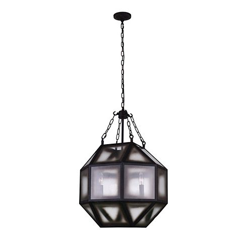 CWI Lighting Dvina 19 inch 4 Light Chandelier with Rust Finish