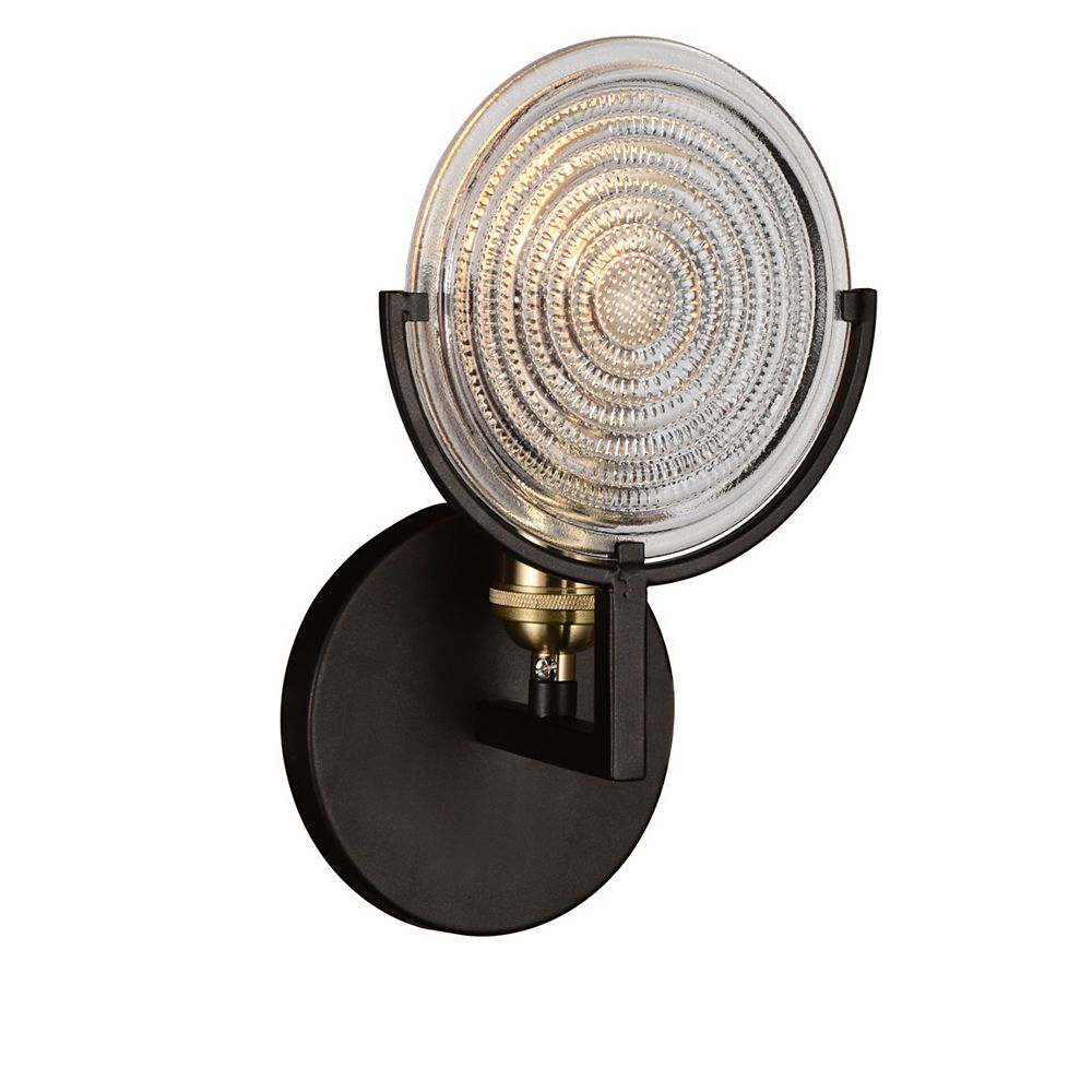 CWI Lighting Bhima 4 inch 1 Light Wall Sconce with Brown Finish