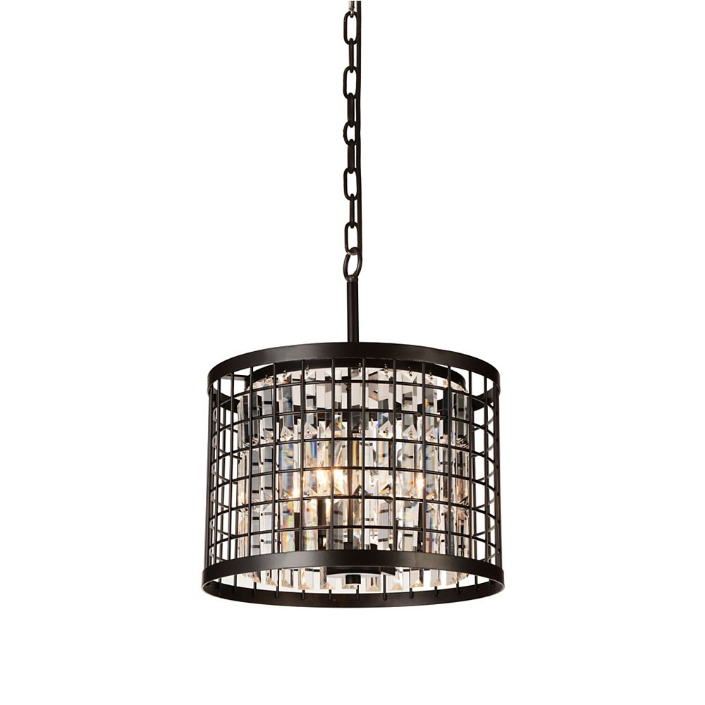 CWI Lighting Meghna 14 inch 4 Light Mini Pendant with Brown Finish