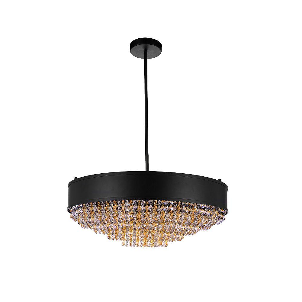 CWI Lighting Medina 24 inch 10 Light Chandelier with Black Finish