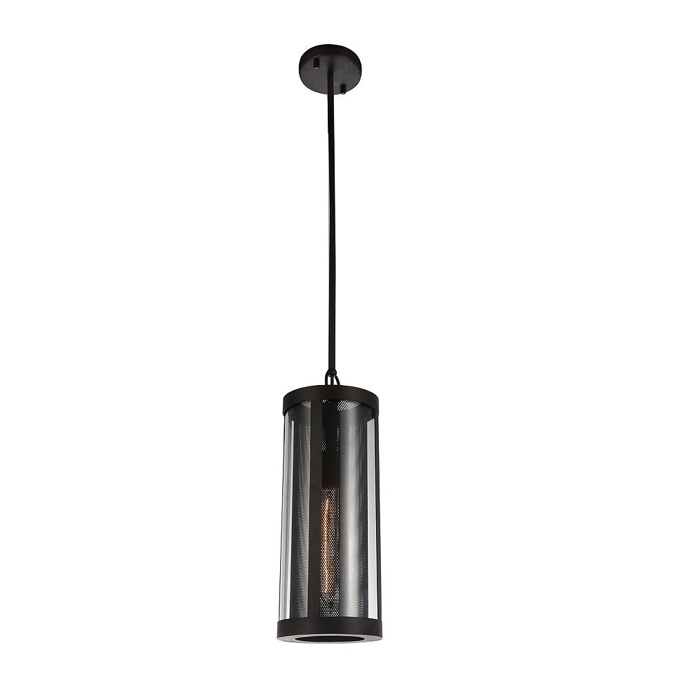 CWI Lighting Souris 6 inch 1 Light Mini Pendant with Reddish Brown Finish