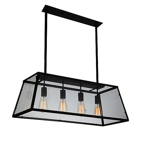Alyson 31 inch 4 Light Chandelier with Black Finish