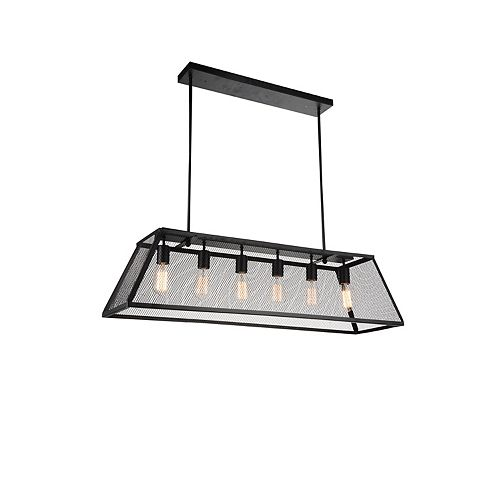 Macleay 42 inch 6 Light Chandelier with Black Finish