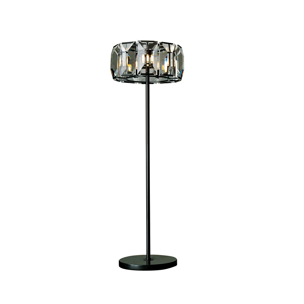 CWI Lighting Jacquet 19 inch 8 Light Floor Lamp with Black Finish and Clear Crystals