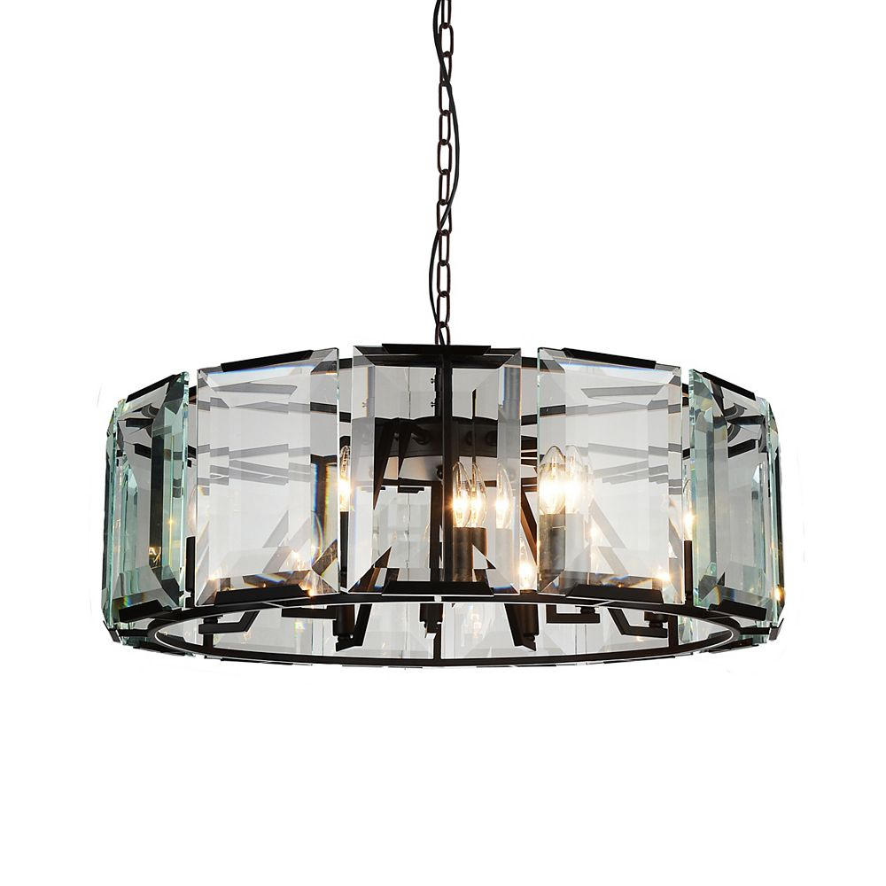 CWI Lighting Jacquet 43 inch 18 Light Chandelier with Black Finish and Clear Crystals