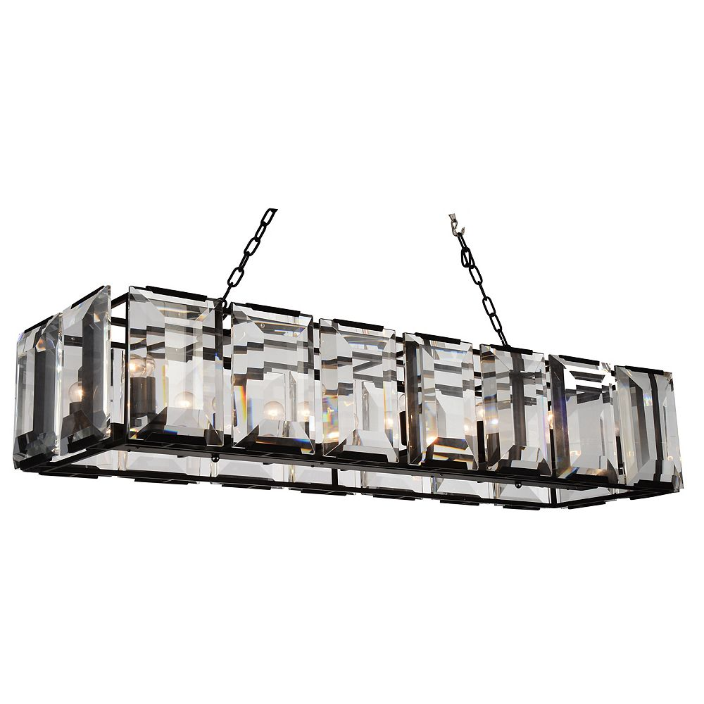 CWI Lighting Jacquet 16 inch 14 Light Chandelier with Black Finish and Clear Crystals