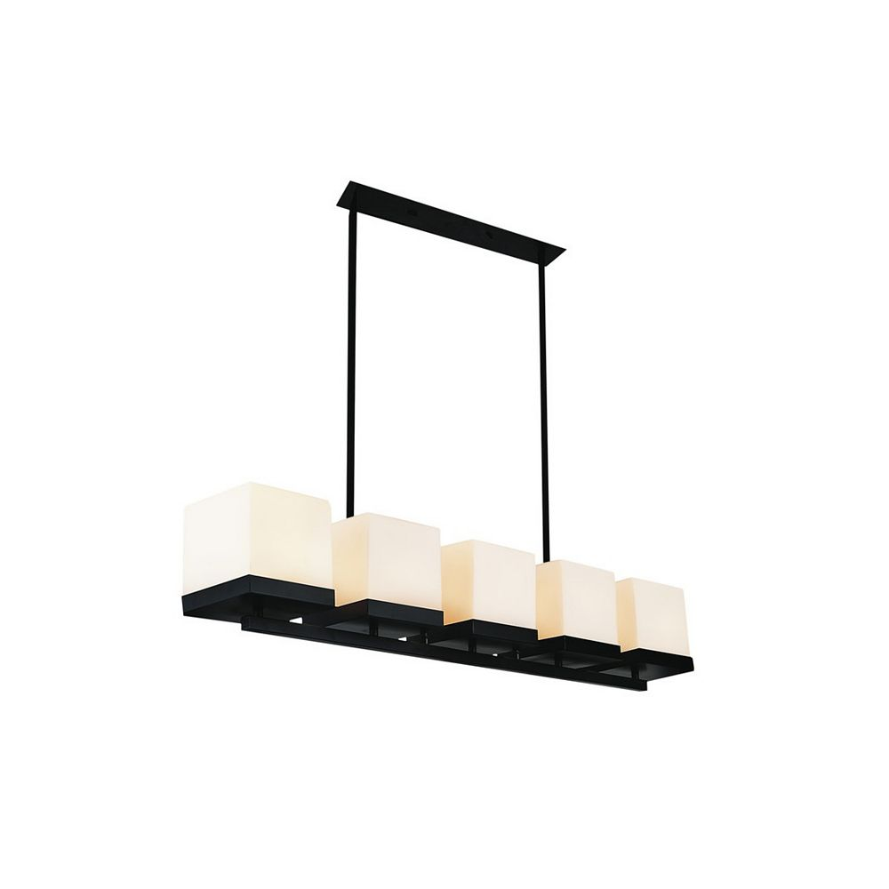 CWI Lighting Cassie 41-inch 5-Light Chandelier with Black Finish