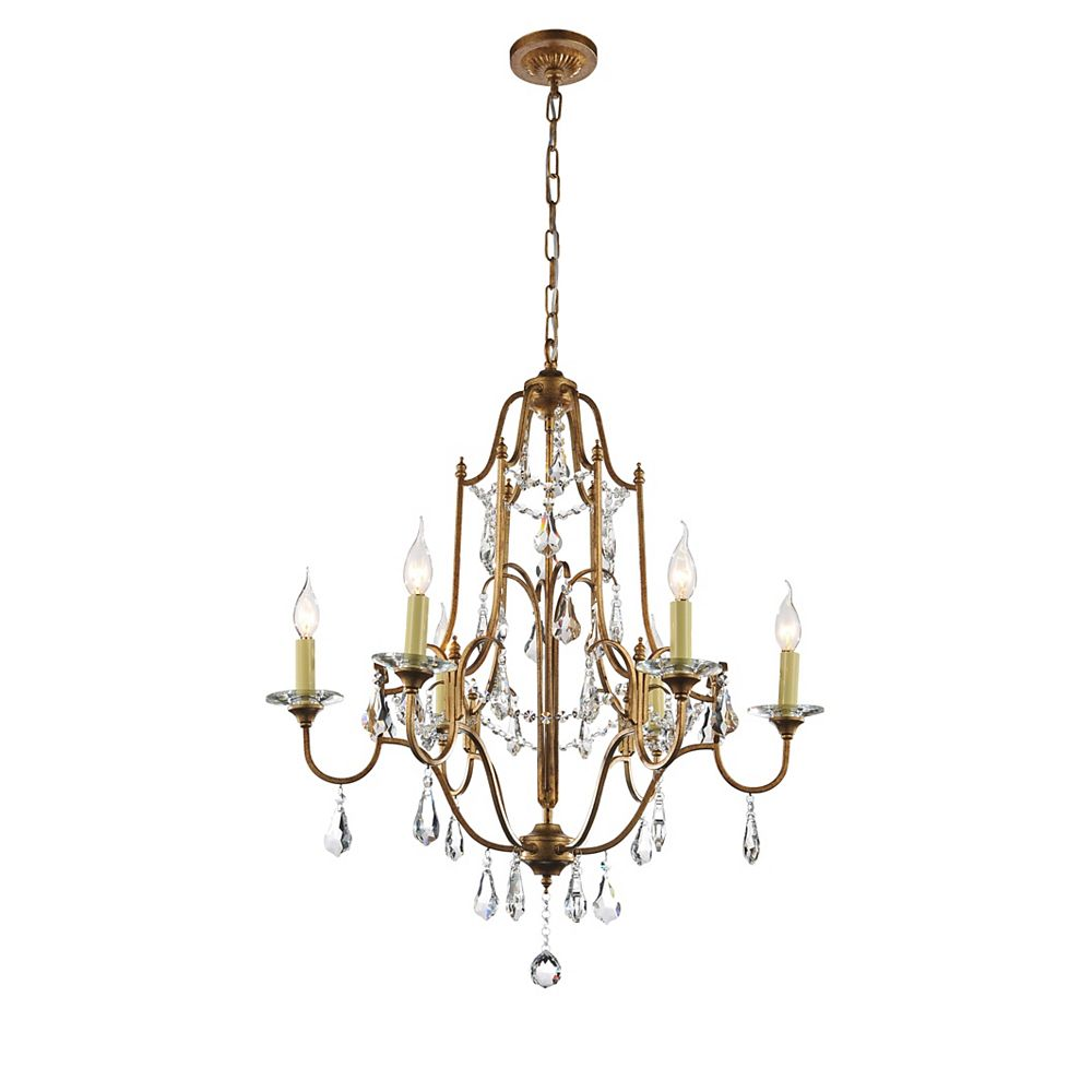 CWI Lighting Electra 28 inch 6 Light Chandelier with Oxidized Bronze Finish