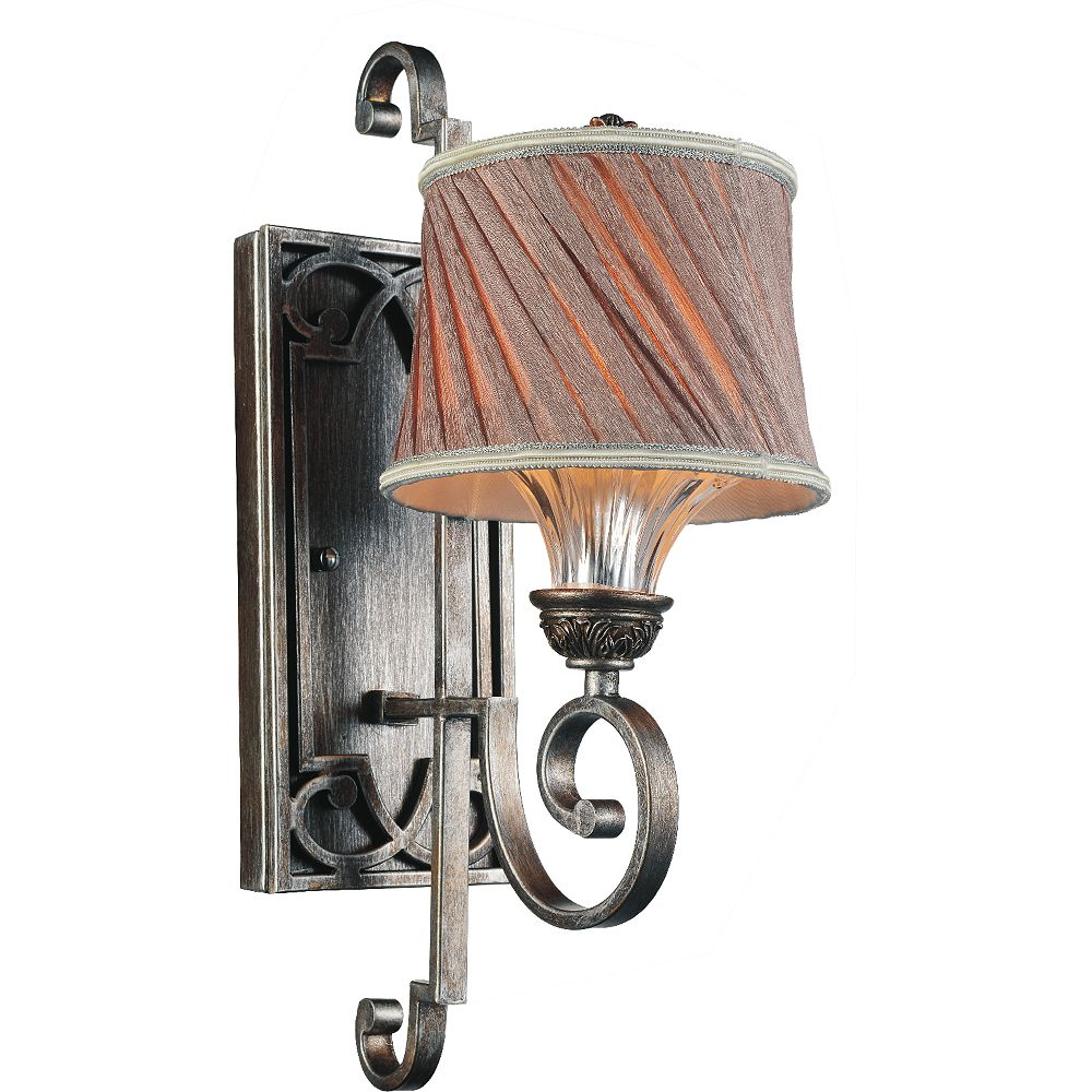CWI Lighting Rogue 9 inch 1 Light Wall Sconce with Antique Forged Silver Finish