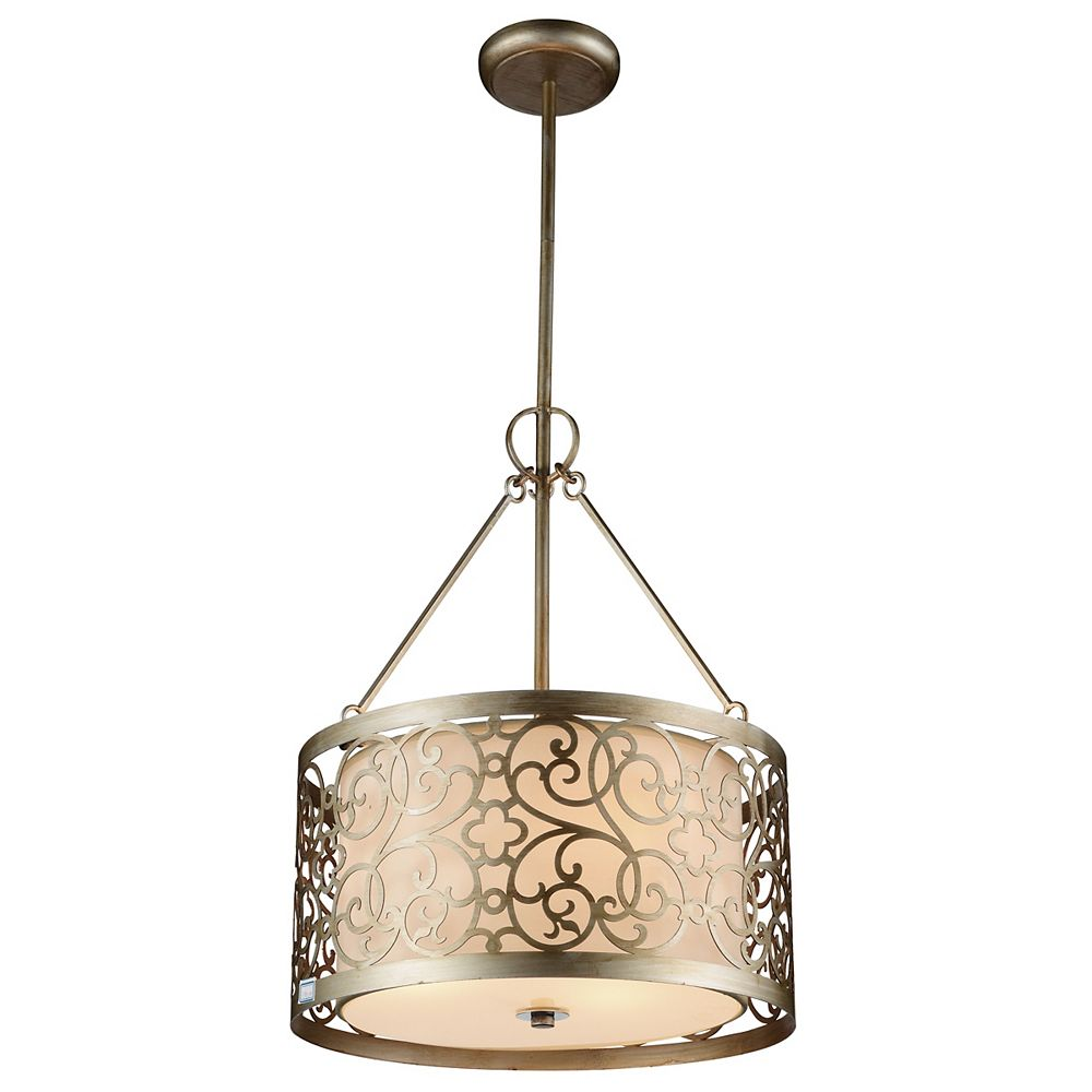 CWI Lighting Alexandra 15 inch 3 Light Chandelier with Rubbed Silver Finish