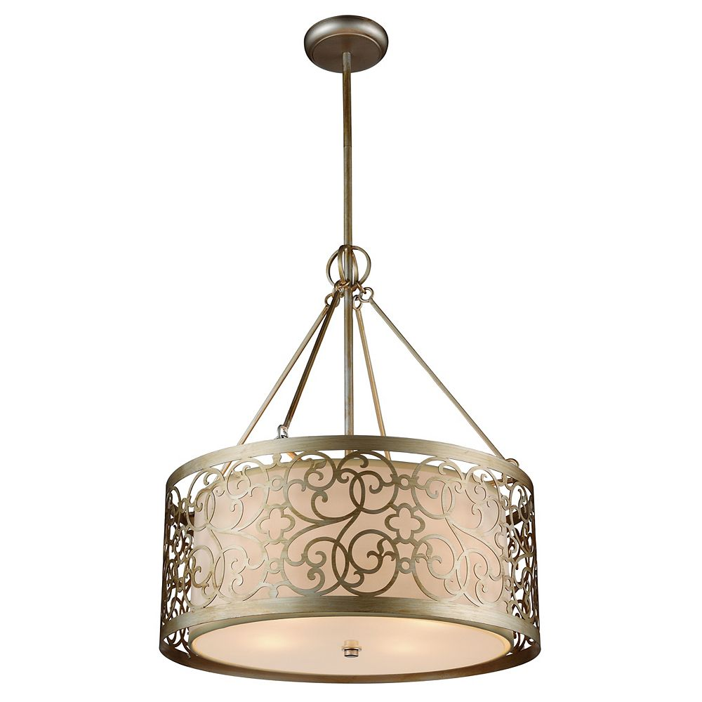 CWI Lighting Alexandra 22 inch 5 Light Chandelier with Rubbed Silver Finish