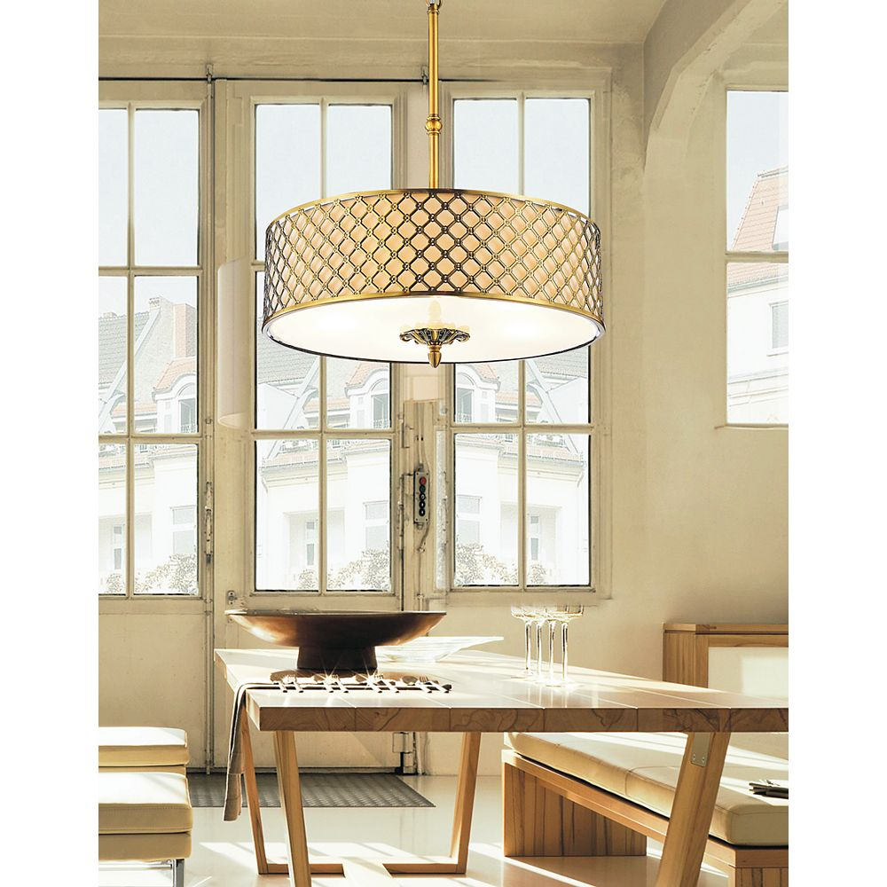 CWI Lighting Gloria 20 inch 4 Light Chandelier with French Gold Finish