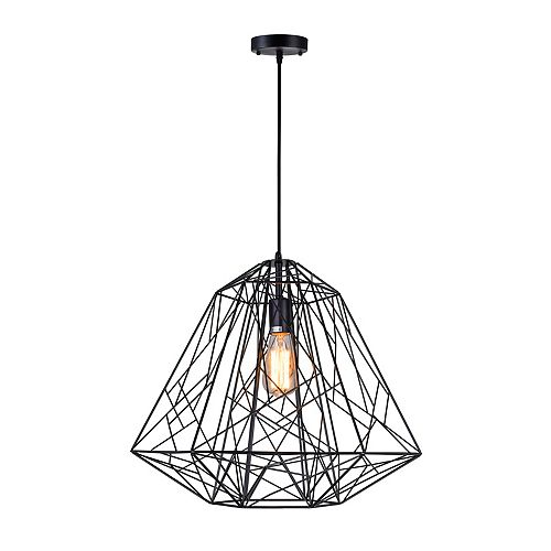 Bagheera 20 inch 1 Light Chandelier with Black Finish