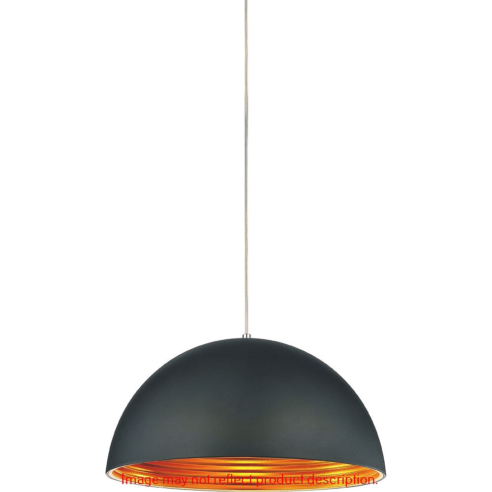 CWI Lighting Modest 12 inch 1 Light Mini Pendant with Black Finish