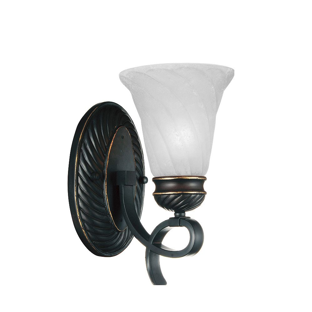 CWI Lighting Barley 6 inch 1 Light Wall Sconce with Standard Dark Bronze Finish