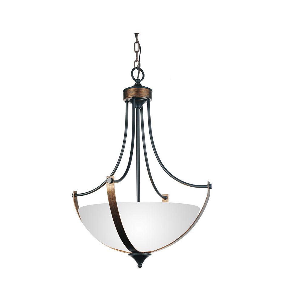 CWI Lighting Solis 19 inch 3 Light Chandelier with Brushed Golden Brown Finish