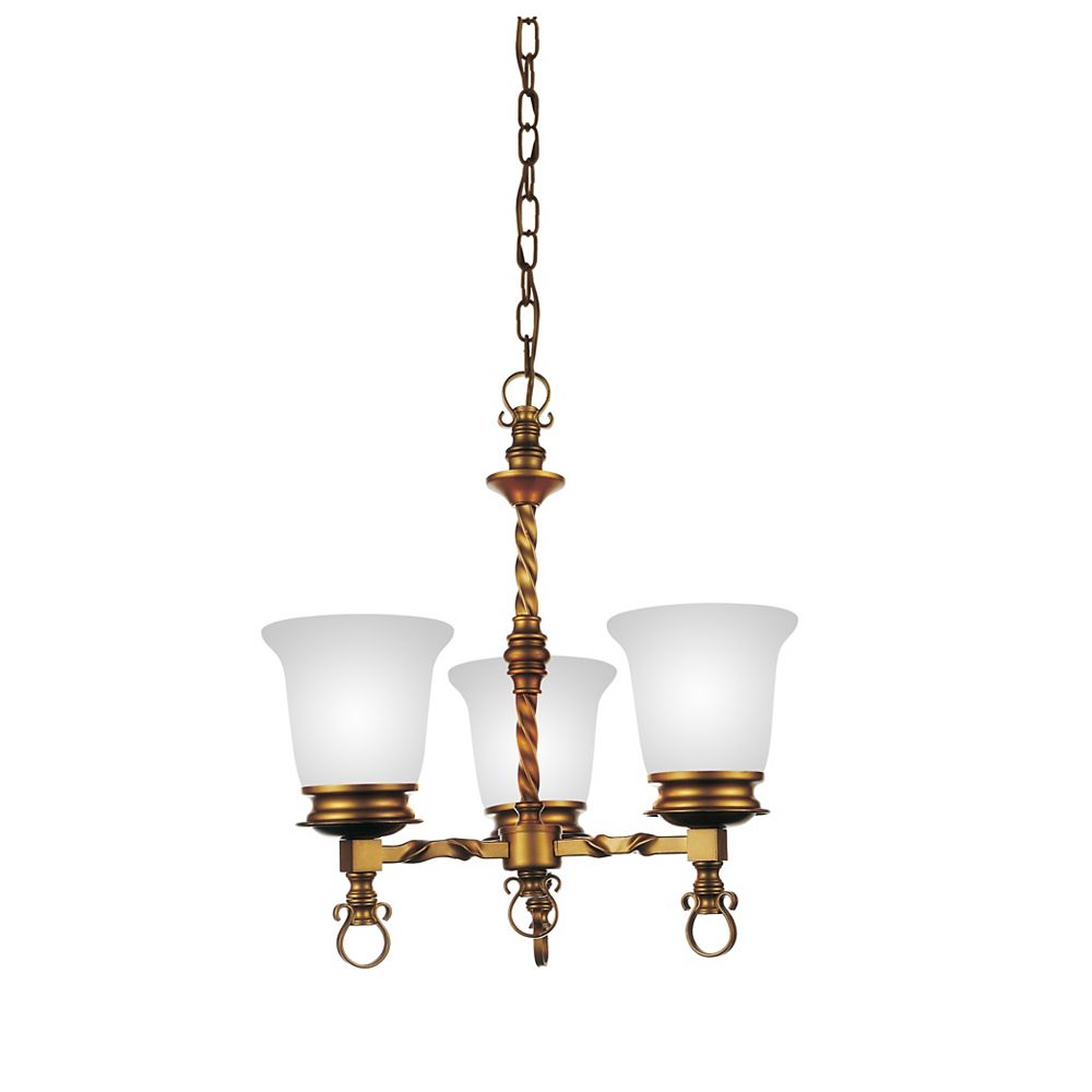 CWI Lighting Reese 18 inch 3 Light Chandelier with Champagne Finish
