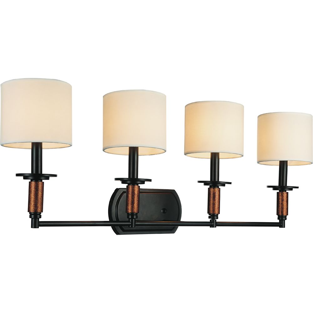 CWI Lighting Sia 33 inch 4 Light Wall Sconce with Black Finish