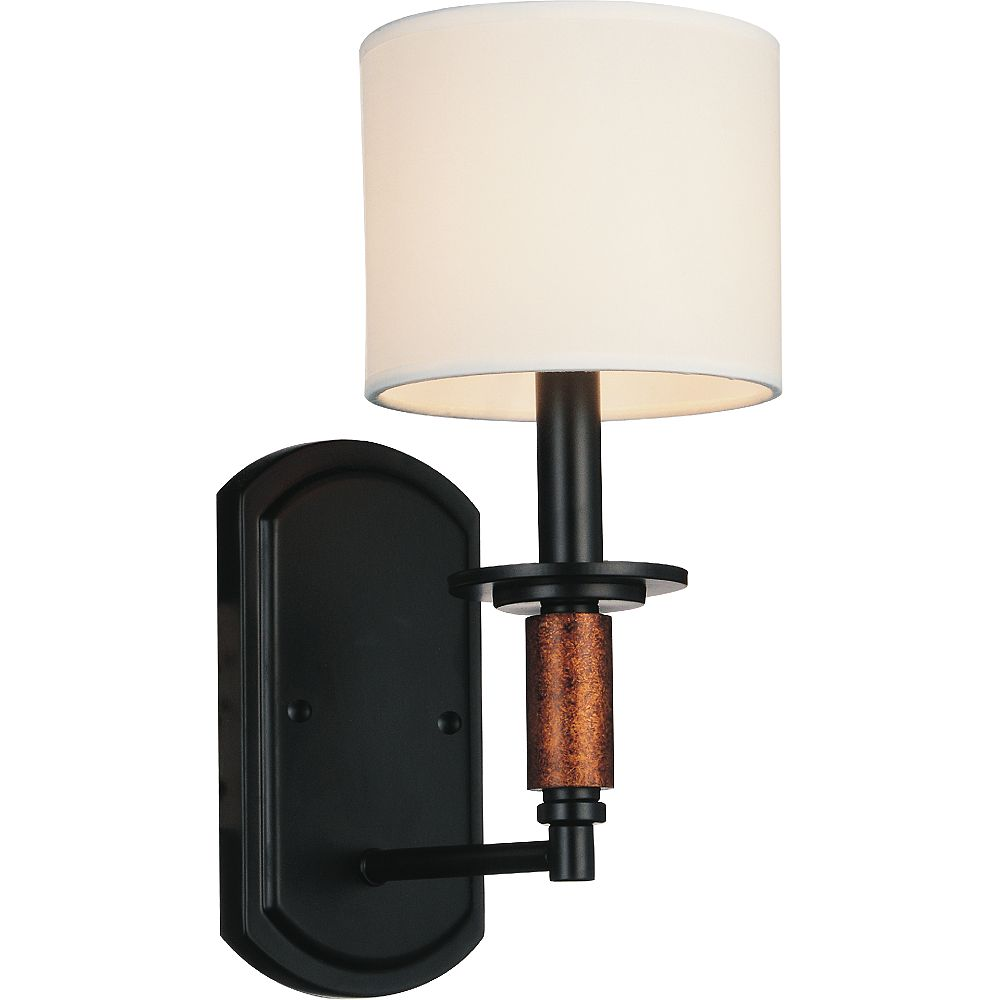 CWI Lighting Sia 6 inch 1 Light Wall Sconce with Black Finish