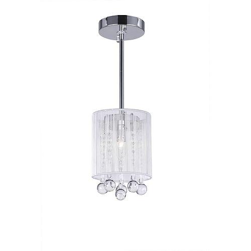 """CWI 6"""" Water Drop 1-Lumière Pendentif avec Fini chromé"""