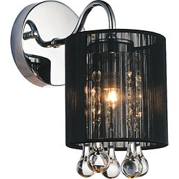 Water Drop 5 inch Single Light Wall Sconce with Chrome Finish