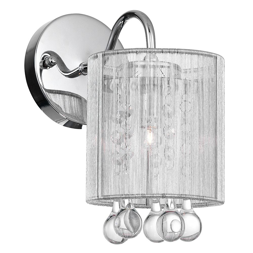 CWI Lighting Water Drop 5-inch 1 Light Wall Sconce with Chrome Finish