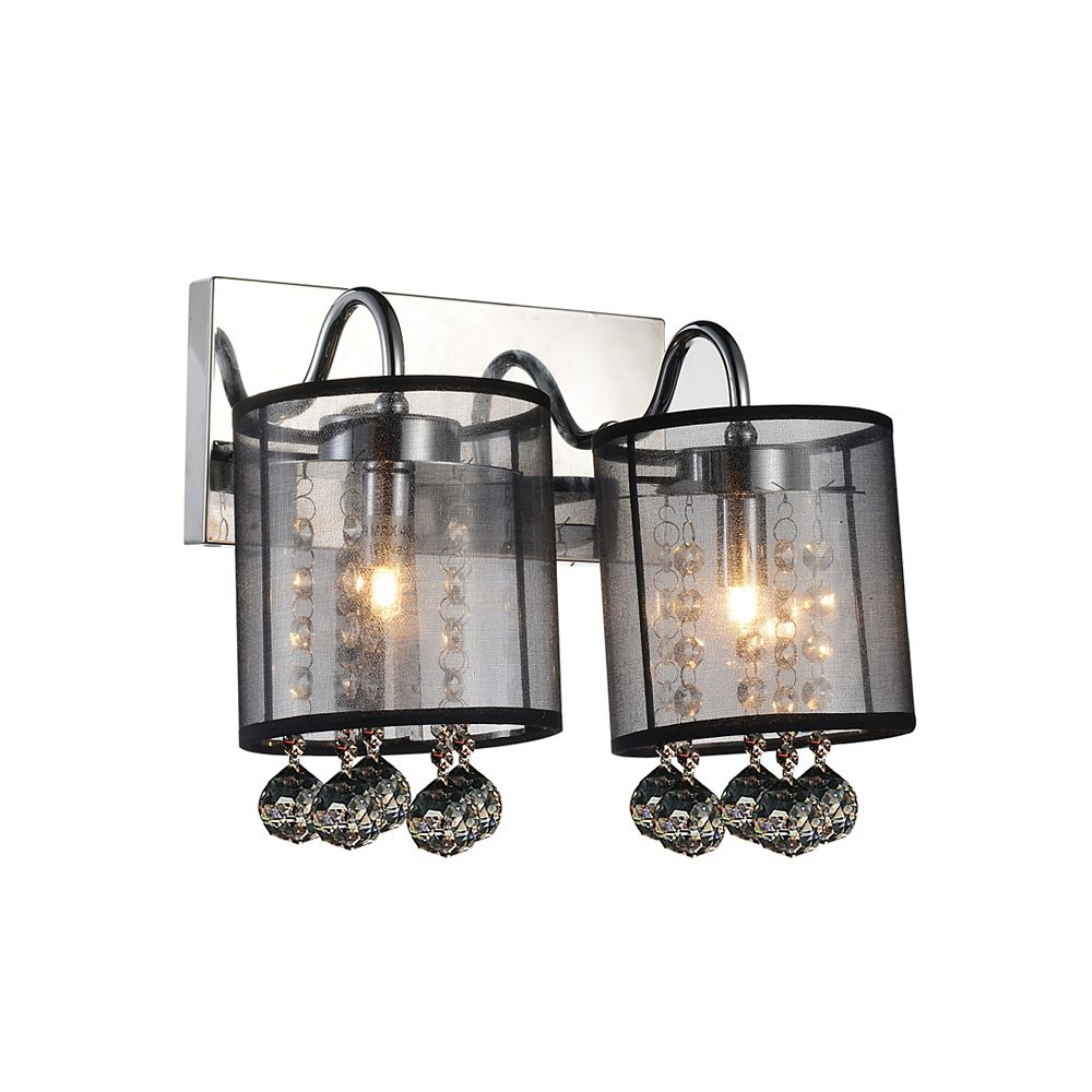 CWI Lighting Radiant 12 inch 2 Light Wall Sconce with Chrome Finish