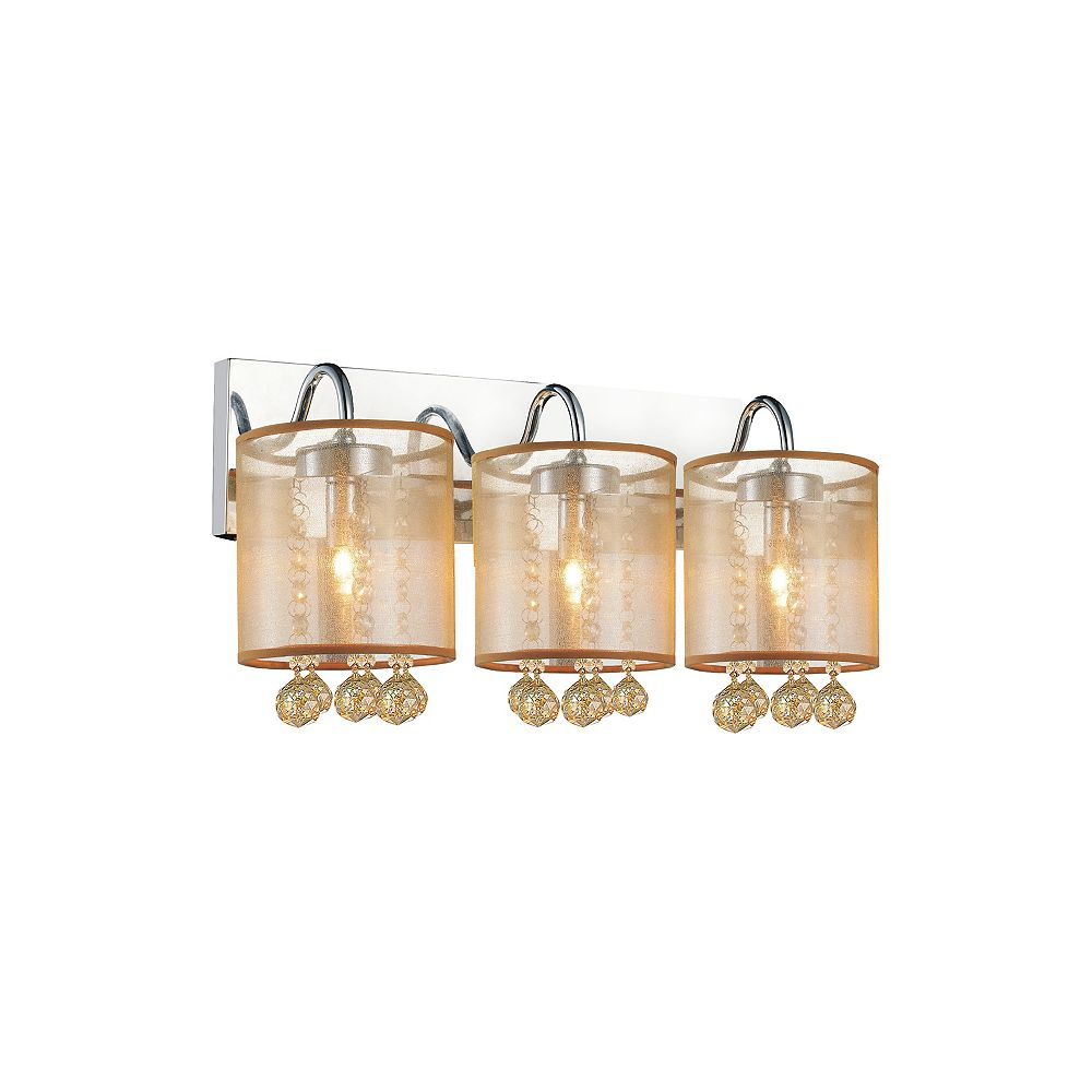 CWI Lighting Radiant 18-inch 3 Light Wall Sconce with Chrome Finish