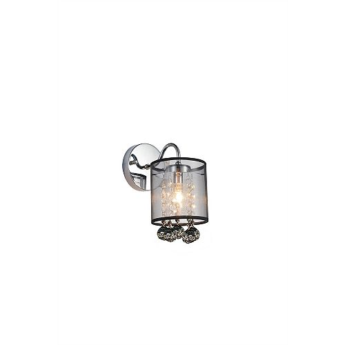 CWI Lighting Radiant 5 inch 1 Light Wall Sconce with Chrome Finish