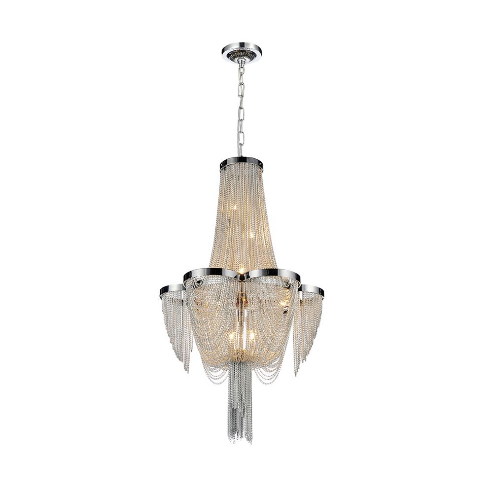 CWI Lighting Taylor 14 inch 7 Light Pendant with Chrome Finish