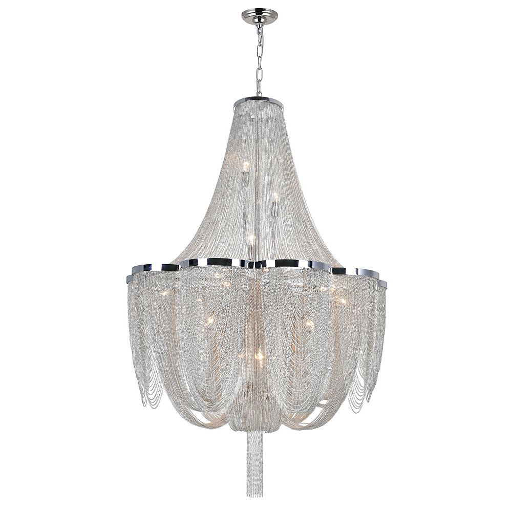 CWI Lighting Taylor 22 inch 10 Light Chandelier with Chrome Finish